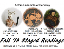 Fall 2019 Staged Readings Graphics